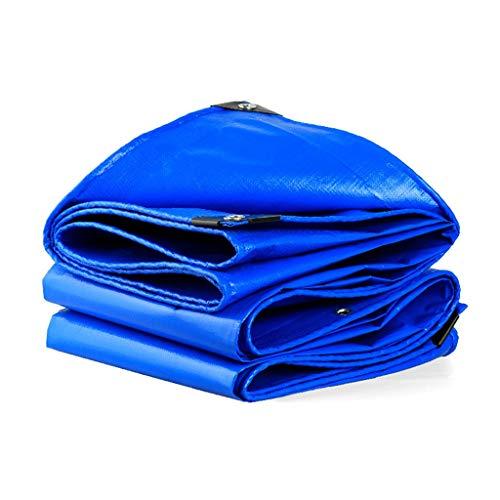 Blue Tarpaulin Thickened Rainproof Cloth Waterproof Cloth Sunscreen Sunshade Camping Trailer Car Roof Rain Cover UV Protection (Size : 3m×6m)