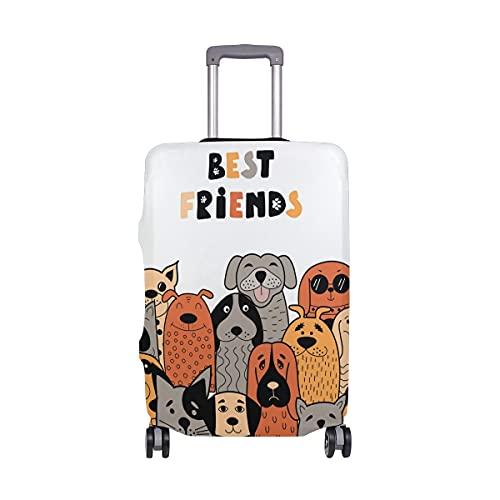AJINGA Pack Dogs Best Friends - Funda protectora para equipaje de viaje (26-28 pulgadas)