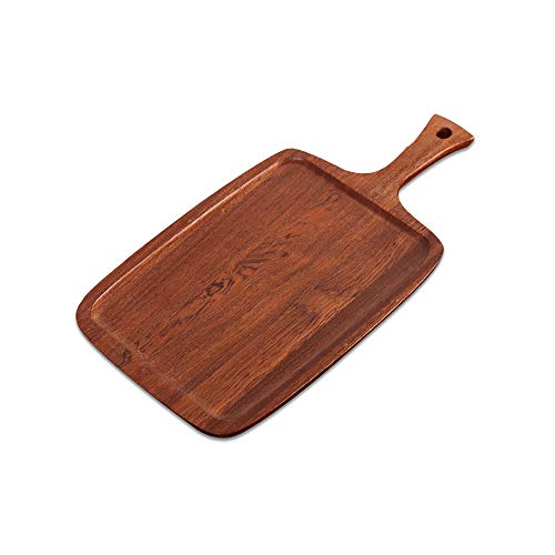 SMX Platz Massivholz Pizza Tablett aus Holz Vintage Nordic West Geschirr Tablett for Pizza/Brot/Gemüse 25 x 46,5 x 1,5 cm (Akazienholz)