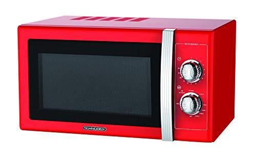 Microondas 20L, 700W mecánico vintage rojo