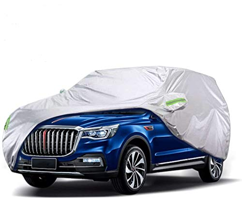 WOKOKO Car Cover, Waterproof SUV Car Covers All Weather UV Protection Windproof Snow-Proof Dust-Proof Scratch Resistant Universal Full Car Cover Fit for SUV, Sedan, Jeep, XL(190''-201'')