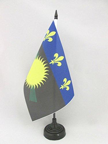 AZ FLAG Drapeau de Table Guadeloupe 21x14cm - Petit Drapeaux DE Bureau guadeloupéen - France 14 x 21 cm