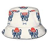 Divertido Sombrero de Pesca de Bulldog francés, Bonitos y Divertidos Sombreros de Sol de Pescador para picnics de Pesca en Bote