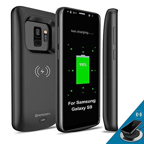 Samsung Galaxy S9 Akkuhülle Qi kabelloses Aufladen, kompatibel mit Newdery 4700 mAh, schlankes, wiederaufladbares Ladegerät, kompatibel mit Samsung Galaxy S9 (5,8 Zoll)