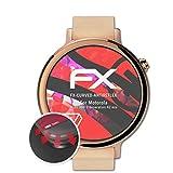 atFoliX Schutzfolie kompatibel mit Motorola Moto 360 2.Generation 42 mm Folie, entspiegelnde & Flexible FX Bildschirmschutzfolie (3X)