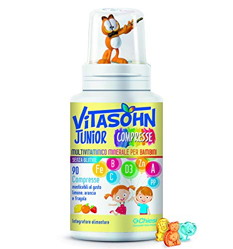 Vitasohn Junior 90 Cpr - Integratore alimentare multivitaminico minerale per bambini - NO Glutine