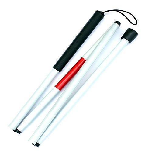 Biback Folding Stick Guide Aveugle, 125CM (49inch) avec déficience visuelle Canne à Pieds Aveugle Walking Stick Walker