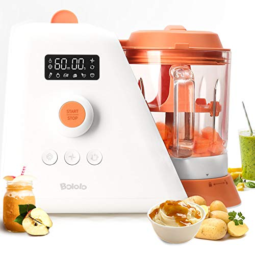 Baby Food Maker |6 in 1 Baby Food Processor nutribullet Baby Food Mill Bullet|Blender Grinder Steamer Warmer|Glass Bowl Auto Cleaning |Organic Healthy Multifunctional Machine for Infants Purees