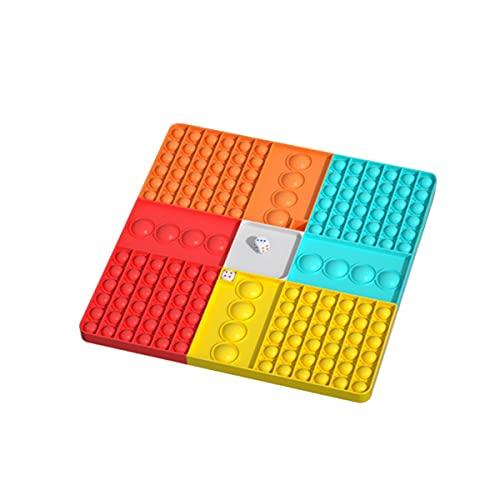 NEERIX Rainbow Chess Boards Push Bubble Sensory Fidget Toys, Big Size Push Game Fidget Toy,...
