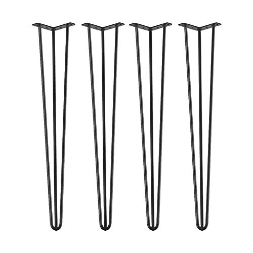 Patas para Mesa de Horquilla, 4 Piezas de Patas de Horquilla de Hierro para Mesa y Muebles, Patas de Escritorio de Mesa Accesorios para el Hogar para Muebles de Manualidades de Bricolaje(40 cm)