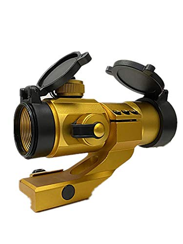 DB TAC INC Anodized Gold Color Finished Tactical 1x30 35mm Red Green Dot Reflex Optic Sight with...