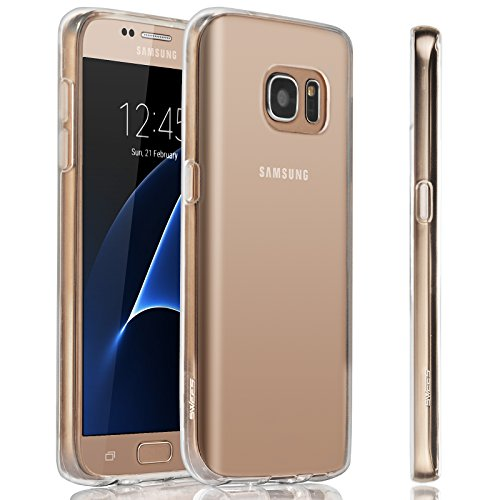 SWEES Phone Case Compatible Samsung Galaxy S7 (2016 Released), Slim Thin Soft Silicone Gel TPU Clear Back Case Shock Absorbing Protective Cover 5.1 inch, Crystal Clear
