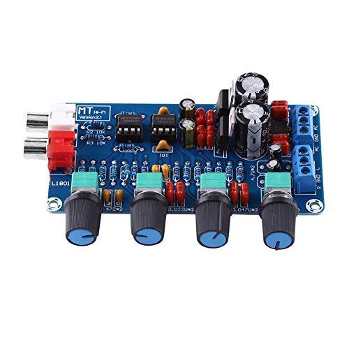 Verstärkerplatine, HIFI OP-AMP-Verstärker NE5532 Vorverstärker Lautstärkeregler Bestückte Platine Elektronische Komponenten Vorverstärker