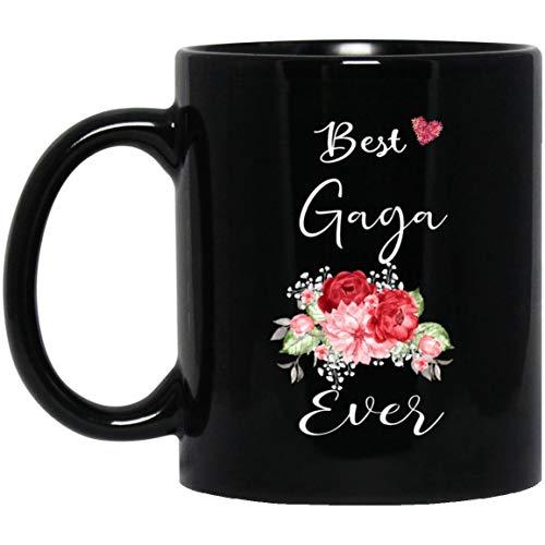 Personalized Coffee Mug - Best Gaga Ever Grandma Mug, Mother's Day Gift, Gift For Grandmother Mug With Handle, Insulated Ceramic Reusable Coffee Cup, Coffee Travel Mug