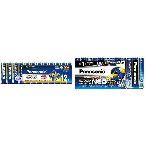パナソニック エボルタ 単3形アルカリ乾電池 12本 LR6EJ/12SW & EVOLTA NEO 単1形アルカリ乾電池 4本 日本製 LR20NJ/4SW