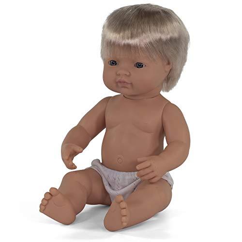 Miniland miniland31051 38 cm Europese boy pop zonder ondergoed