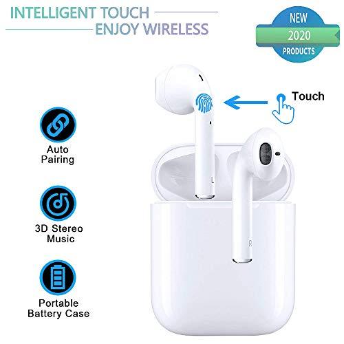 Auricolare Bluetooth Wireless, Mini Cuffie Sportive Impermeabili Wireless Cuffie Wireless con Custodia di Ricarica per iPhone X / 8/7/6 / 6s Plus Huawei Nokia Samsung Galaxy S9 S8