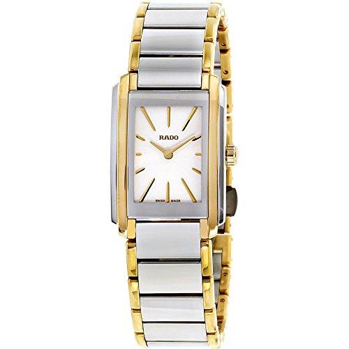 Rado Damen-Armbanduhr Armband Gold beschichtetes Edelstahl Quarz R20212103