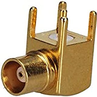 BNC Jack with Female Basket in Right Angle RF Connector PCB Mount with Post Terminal 4 Stud Ships from USA