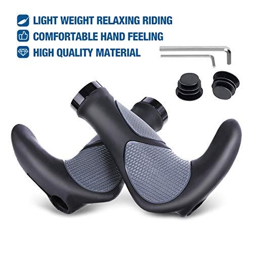OUTERDO Manopole ergonomiche per bicicletta, antiscivolo e comode, resistenti all'acqua, progettate per MTB, BMX