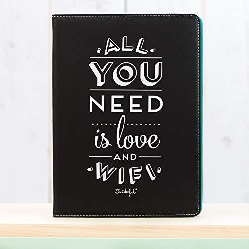 Mr. Wonderful MRUNI003 - Funda para Tablet 10,1'' You Need Love Negra