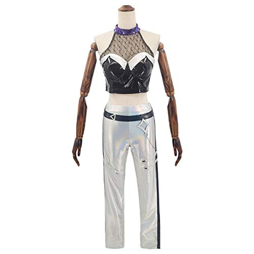 Xin Hai Yuan Juego LOL K/Da Kda Kaisa Cosplay Costume Top + Pants Traje de Equipo Traje de Fiesta de Halloween para nias Mujeres Nuevo 2020,XL