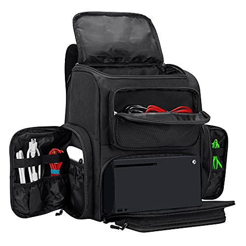 Trunab Travel Carrying Backpack Compatible with Xbox Series X, Storage Case Bag with Inner...