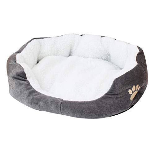 LohugoDetachable And Washable Wool Fleece Dog Bed, Super Soft And Comfortable, Suitable For Small And Medium-Sized Dogs
