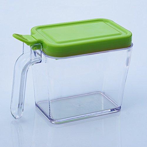 Pot à épices maison,Boîte de cuisine assaisonnement-vert