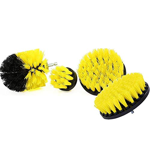3/4Pcs Drill Brush Attachment Set, Power Scrubber Brush Cleaning Kit, Electric Drill Brush, for Bathroom Surfaces, Grout, Floor, Tub, Shower, Tile, Corners, Kitchen