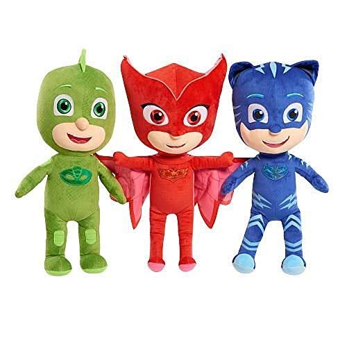 "PJ Masks 17"" Owlette, Catboy, Gekko. Set of Three, Multicoloured, 17 inches"