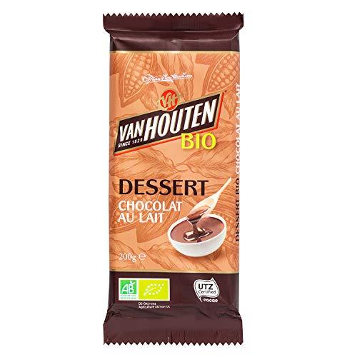 Van Houten Tablette Chocolat Dessert Lait Bio 200 g 1 Unité