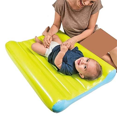 LLVV Opblaasbare luchtmatras, opvouwbaar, voor kleine kinderen, opblaasbaar, gemakkelijk te dragen, comfortabel opblazen, kleine kinderen, campingmatras