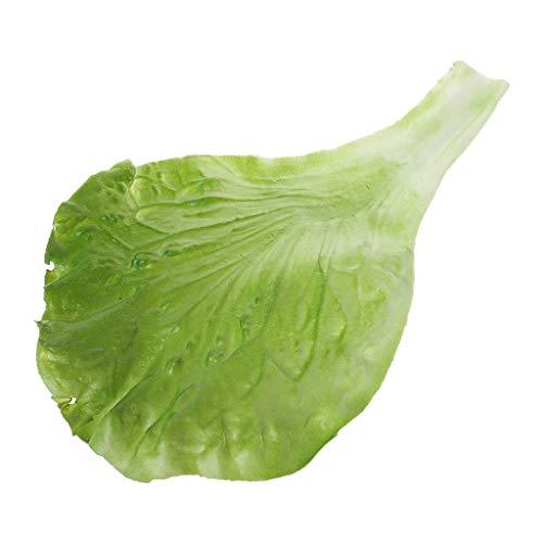 RG-FA Künstliche Gemüse-Salatblätter, lebensecht für Zuhause, Party, Küche, Festival, Dekoration.