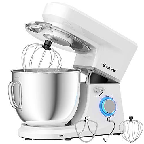 COSTWAY Stand Mixer, 6-Speed 7.5 QT Tilt-head Electric Kitchen Food Mixer 660W...