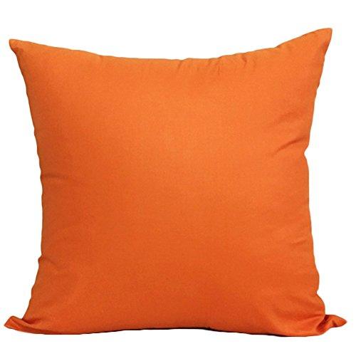 TREESTAR Funda de cojín cuadrada de color sólido simple de algodón, funda de almohada decorativa para sofá de oficina, 1 pieza