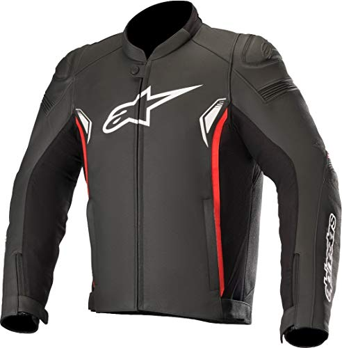 Alpinestars Chaqueta moto Sp-1 V2 Leather Jacket Black Bright Red, Negro/Blanco/Rojo, 60