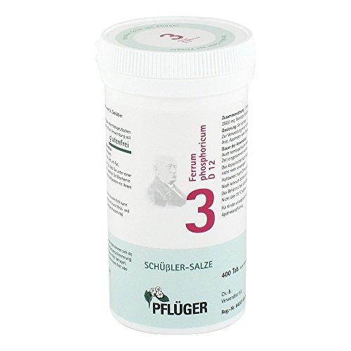 BIOCHEMIE Pflüger 3 Ferrum phosphoricum D 12 Tabl. 400 St