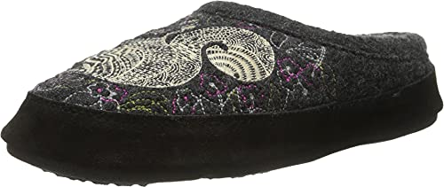 Acorn Women's Clog Slipper, Multi-Layer Memory Foam footbed With A Soft Berber Lining And Suede Sidewall, Grey Squirrel, 8-9
