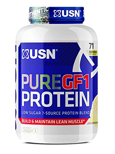 USN Pure Protein GF1 Growth and Repair Protein Shake, Strawberry - 2000g