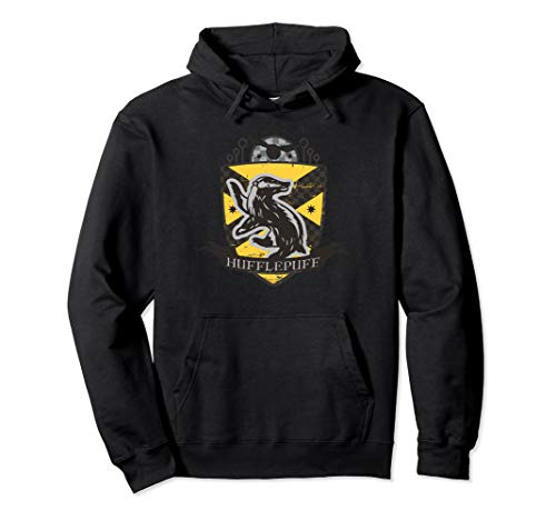 Harry Potter Hufflepuff Quidditch Crest Pullover Hoodie