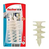 Fischer 503778 Tasselli per Cappotto FID 50 K per Pannelli isolanti, 4 Pz, Bianco, 50 mm