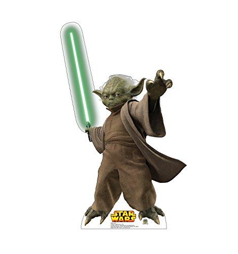 Advanced Graphics Yoda Life Size Cardboard Cutout Standup - Star Wars Prequel Trilogy