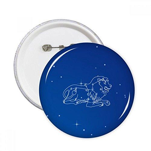 DIYthinker Modelo de estrella Universo Constelación Leo pernos redondos insignia del botón de ropa Decoración 5Pcs regalo Multicolor L