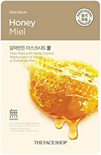 The Faceshop Real Nature Honey Face Mask, 20g (Pack of 1 sheet)