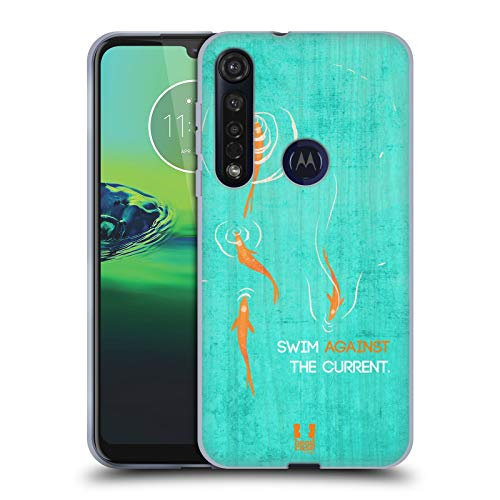 Head Case Designs Nuoto Stampe Blocchi di Legno Cover in Morbido Gel Compatibile con Motorola Moto G8 Plus