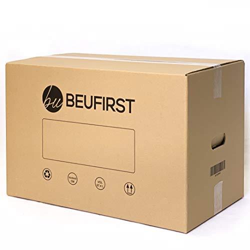 Packs de 5 ó 10 Cajas XL (550x350x350 mm) con Asas Canal Doble 5 Capas Alta Calidad Reforzado, muy Resistentes y Reutilizables. Cajas Mudanza, Transporte, o Almacenaje. 67 Litros (10)