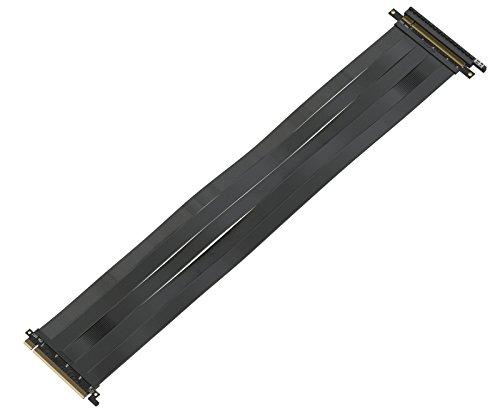 LINKUP - {50 cm} 16x Riser Kabel Super Abgeschirmt Twinaxial PCI Express Steigleitung Kabel Portverlängerungs-Platte 2020 Rev | 90 Grad Buchse