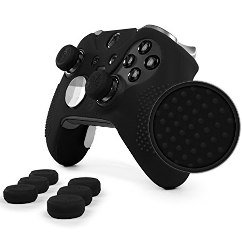 ElitePro Grip Studded Skin Set for Xbox One Elite Controller by Foamy Lizard Sweat Free Silicone...