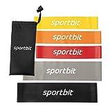 Pilates Flexbands Set with Bag & e-Book for Exercise & Workout